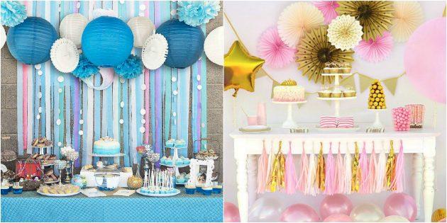 товары для вечеринки: Набор бумажных украшений
