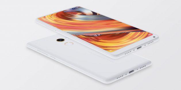 Xiaomi Mi MIX 2 в белом корпусе