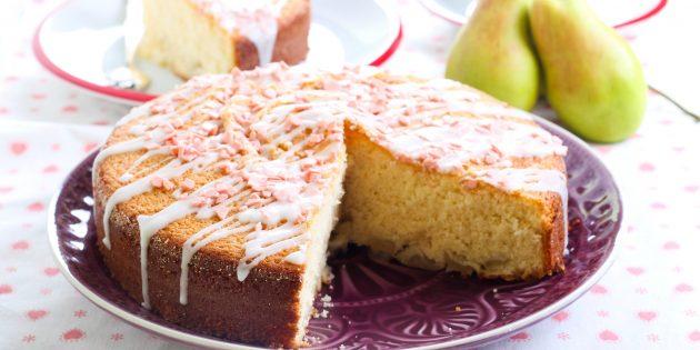 Пирог сметанник с яблоками