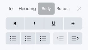 Новый интерфейс форматирования текста