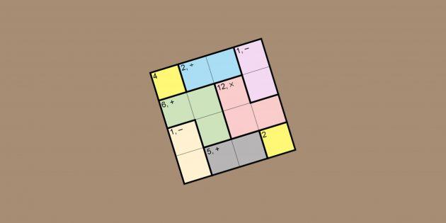 KenKen — игра-головоломка, тренирующая память и логическое мышление