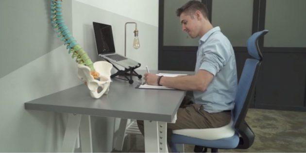 Штука дня: Weightless Sitting — подушка для работы за компьютером