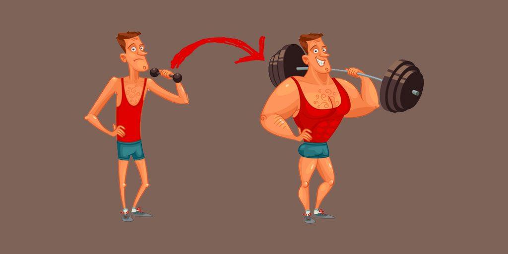 Как набрать вес в руках