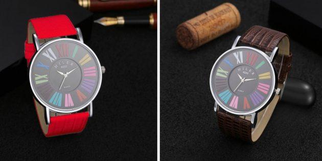 Яркие часы с большими цифрами