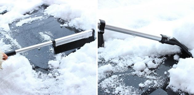 товары для зимы: щётка-скребок для машины