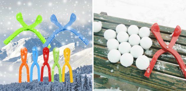 товары для зимы: приспособление для лепки снежков