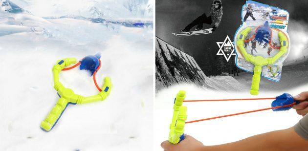 товары для зимы: рогатка для снежных баталий