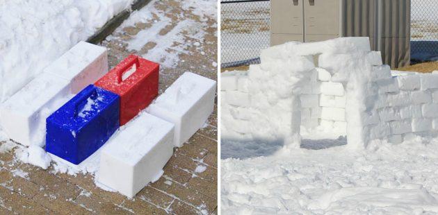 товары для зимы: форма для снежных кирпичей