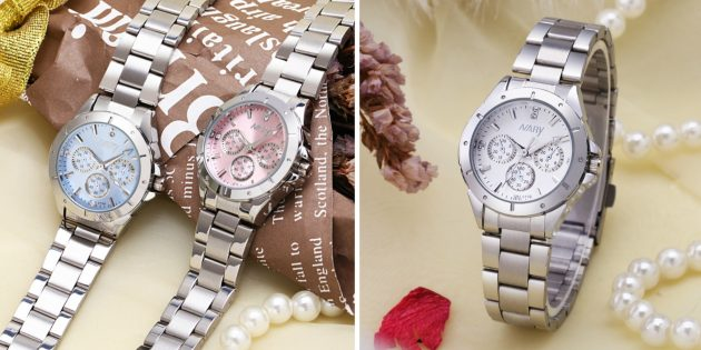 Кварцевые часы со стальным ремешком