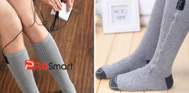 товары для зимы: высокие носки с подогревом