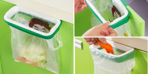 Portable Plastic Trash Storage Bag Hanging Holder Sale