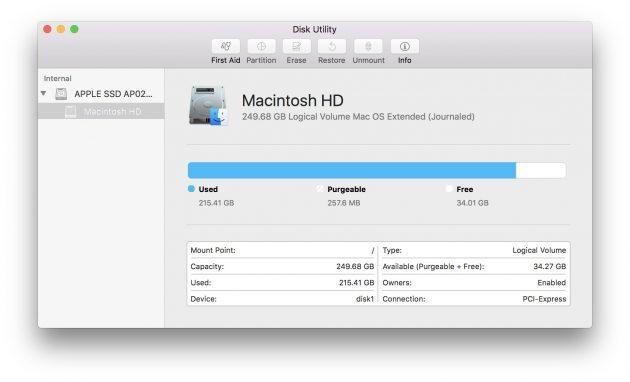 Компьютер с macOS не видит жёсткий диск: Дисковая утилита