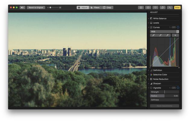 macOS High Sierra: приложение фото