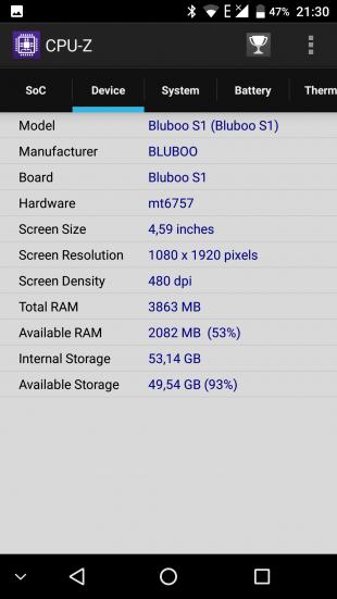 Bluboo S1: технические характеристики 2