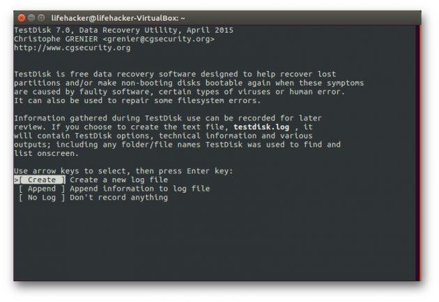 восстановить данные: TestDisk