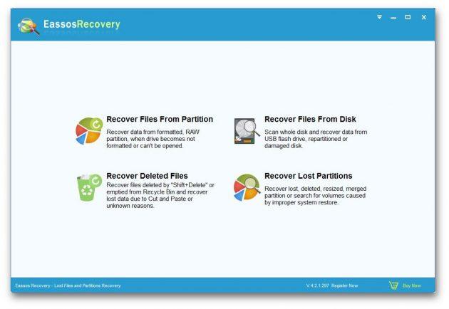 восстановить данные: Eassos Recovery