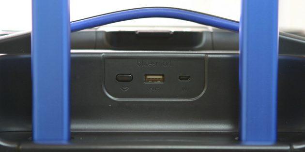 Bluesmart: встроенный аккумулятор