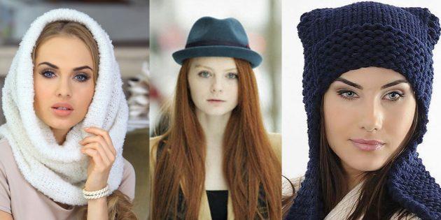 как подобрать шапку: грушевидное лицо