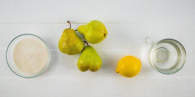 Варенье из груш: ингредиенты