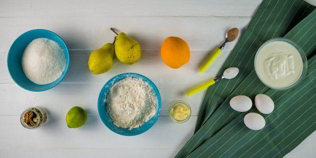 Пирог с грушами: ингредиенты