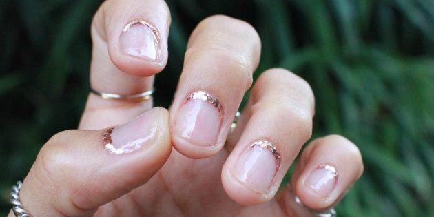 натуральный стиль в ногтях