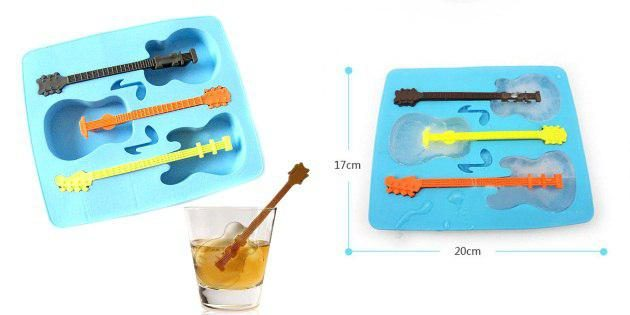 Лёд в форме гитар