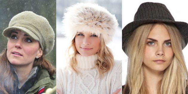 как подобрать шапку: ромбовидное лицо