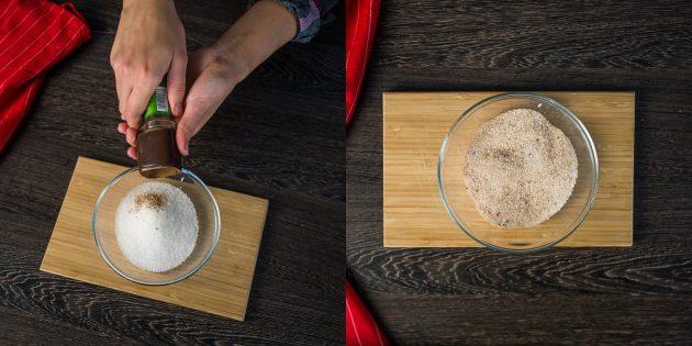 Рецепт глинтвейна: смешайте сахар и корицу