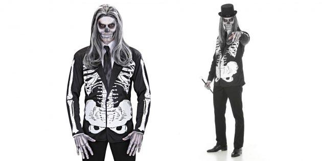Костюм на Хеллоуин: скелет