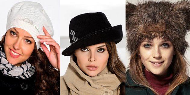 как подобрать шапку: треугольное лицо