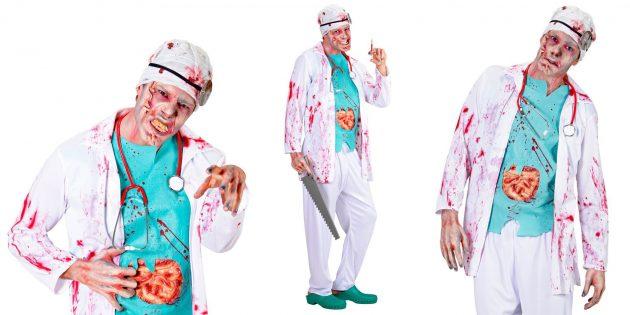 Костюм на Хеллоуин: хирург-зомби