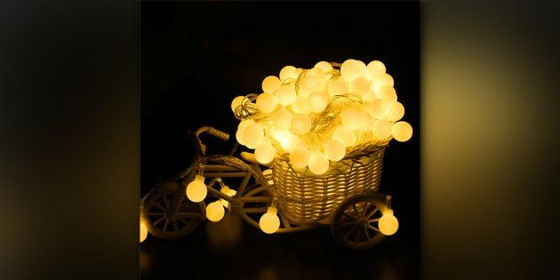 Гирлянда с фонариками-лампочками