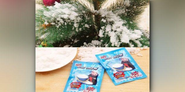 Искусственный снег в пакетах