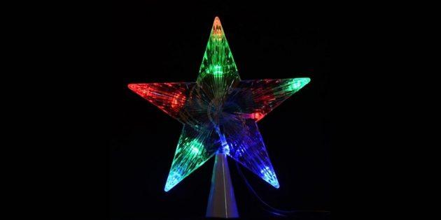 Звезда с подсветкой, работающая от сети