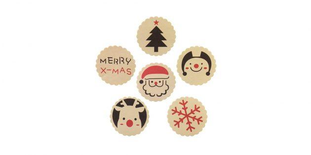 Стикеры для оформления подарков