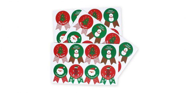 Стикеры для новогодних подарков