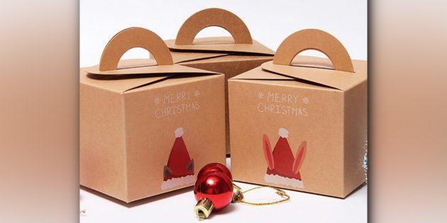 Коробка для подарка с принтом