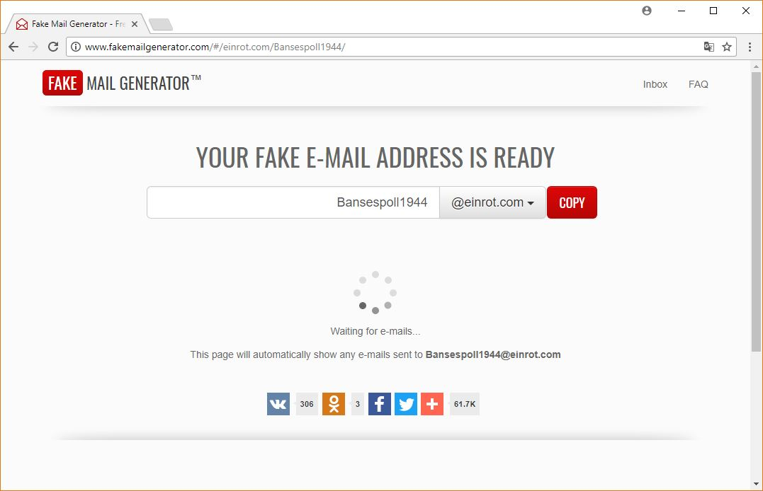 Create your own FAKE EMAIL