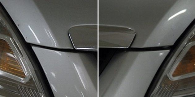 Как купить подержанный автомобиль: Неравномерный зазор с левой и правой стороны капота