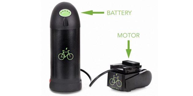 EAZY Bike: батарея и мотор