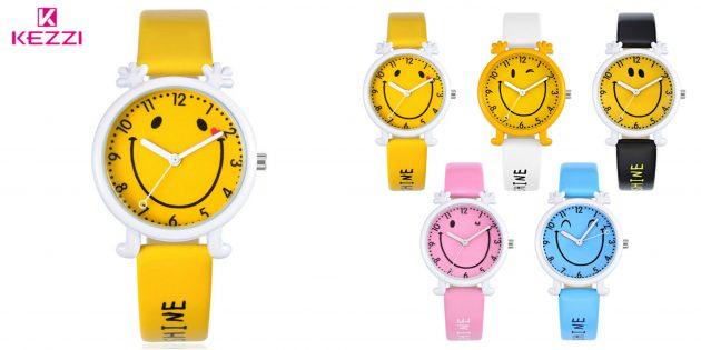 детские часы: часы-смайлик