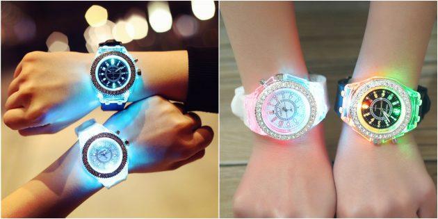 детские часы: часы со светодиодной подсветкой