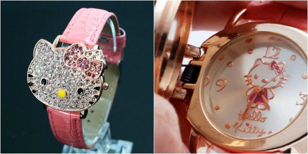 детские часы: часы-браслет с Hello Kitty
