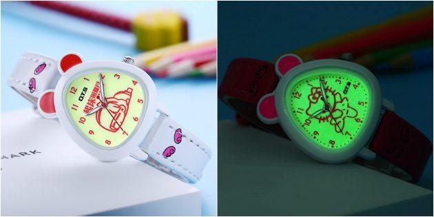 детские часы: часы, светящиеся в темноте