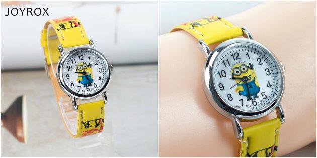 детские часы: кварцевые часы с миньонами