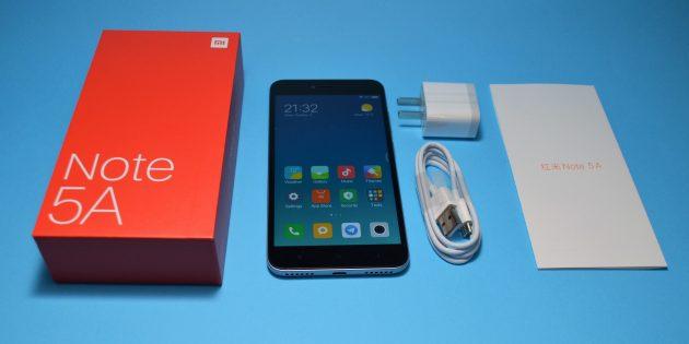 Xiaomi Redmi Note 5a: комплектация