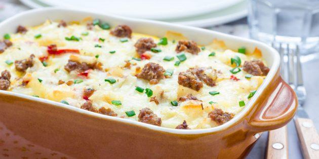 Рецепты картошки с мясом в духовке: картофельная запеканка с фаршем