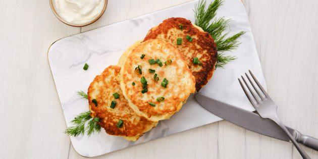 Как приготовить картошку с мясом на плите: Картофельные драники с курицей
