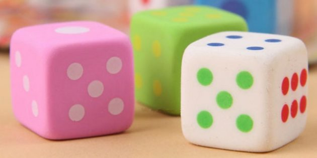 Ластики-кубики