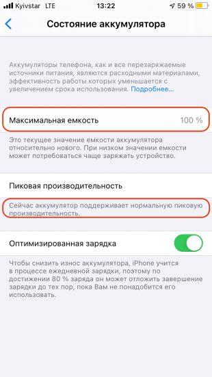 Пиковая производительность iPhone